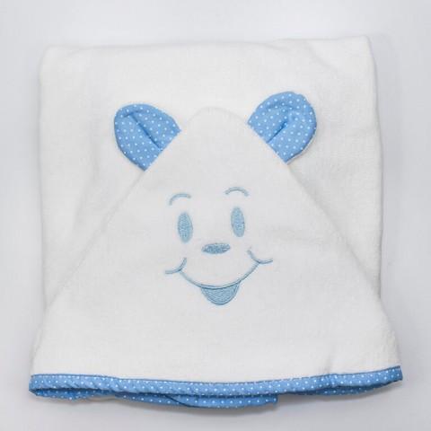 Toalha de Banho - Avental com Fralda - Azul