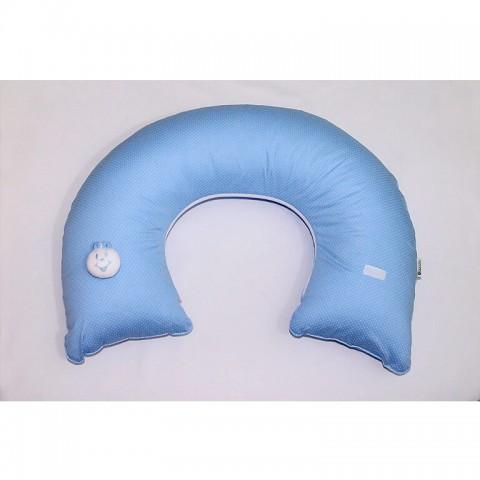 Almofada de Amamentação - Poá Azul