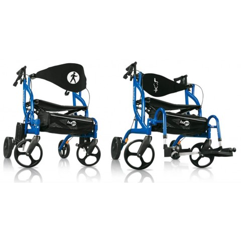 Andador e cadeira de Transporte Hugo Navigator Rolling Walker & Transport Chair