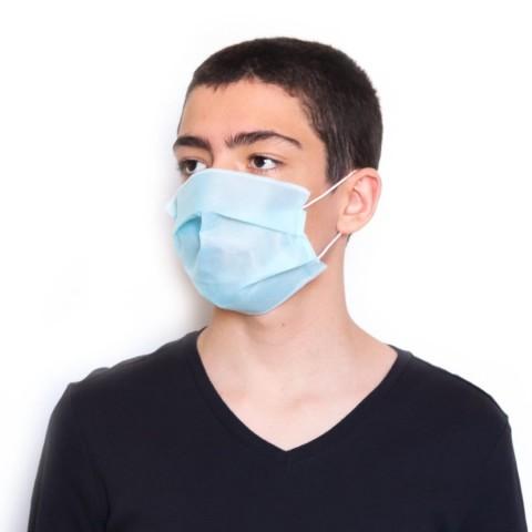 Máscara de proteção Azul Clara